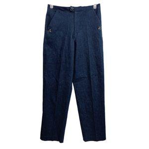 Vintage High Waisted Stretch Denim Trousers Sz 10